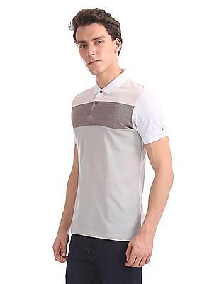 Arrow Newyork Regular Fit Colour Block Polo Shirt