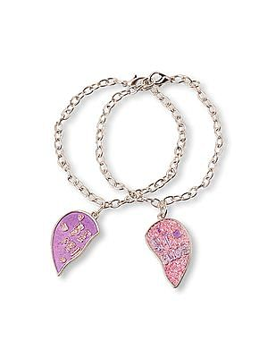The Children's Place Girls 'Best Friends' Heart Charm Bracelet 2-Pack
