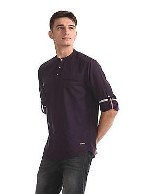 Cherokee Purple Cotton Linen Popover Shirt