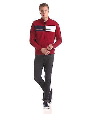 Arrow Sports High Neck Zip Up Sweatshirt