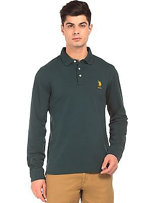 U.S. Polo Assn. Long Sleeve Pique Polo Shirt