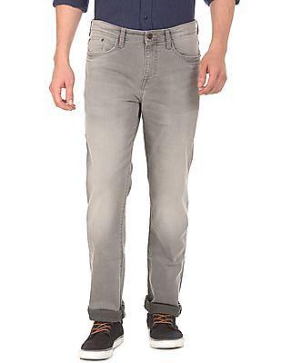 Aeropostale Slim Straight Fit Mid Rise Jeans