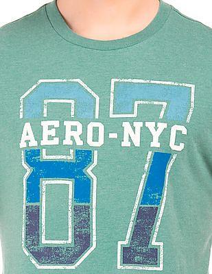 Aeropostale Printed Crew Neck T-Shirt