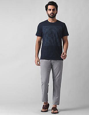 True Blue Slim Fit Flat Front Trousers