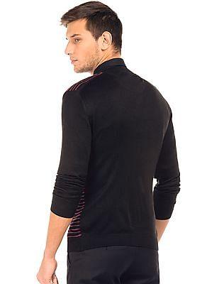 Arrow Newyork V-Neck Patterned Knit Sweater