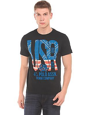 U.S. Polo Assn. Denim Co. Printed Muscle Fit T-Shirt