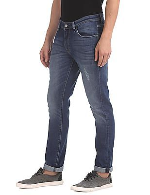 Arrow Sports Slim Fit Washed Jeans