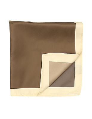Arrow Contrast Hem Woven Pocket Square