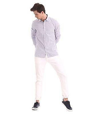 Excalibur Purple Patch Pocket Check Shirt