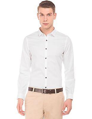 bc2d82392d10 Buy Men Patterned Weave Slim Fit Shirt online at NNNOW.com
