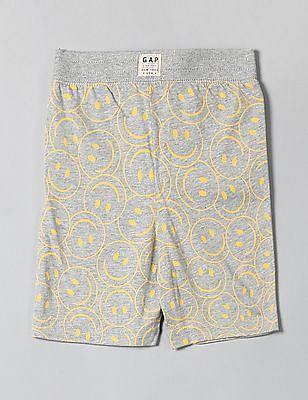 GAP Boys Grey Print Pull-On Shorts