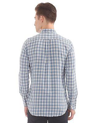 Gant Authentic Indigo Madras Regular Button Down Shirt