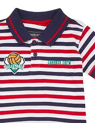 Cherokee Boys Striped Polo Shirt