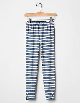 GAP Girls Blue GapKids x ED Printed Button Leggings