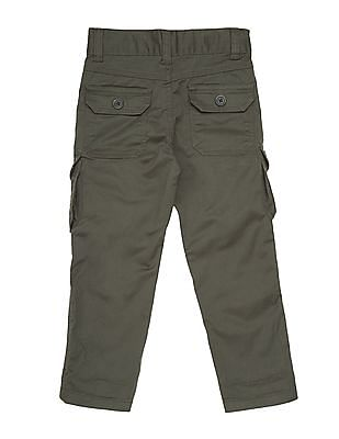 Cherokee Boys Solid Cargo Trousers