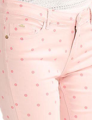 Elle Regular Fit Polka Print Trousers