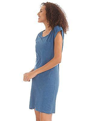 Elle Speckled Knit T-Shirt Dress