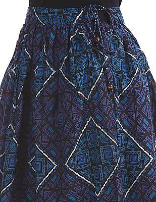 Bronz Printed Maxi Skirt