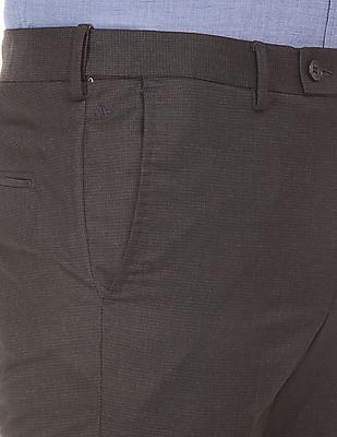 Arrow Autoflex Waist Tapered Fit Trousers