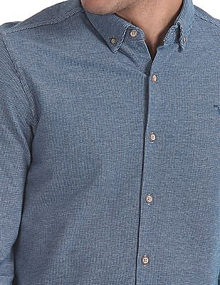 Flying Machine Standard Fit Patterned Weave Shirt