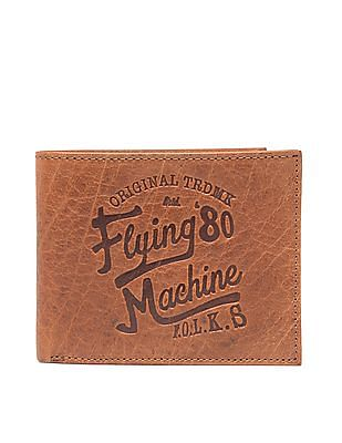 Flying Machine Red Indian Embossed Bi-Fold Wallet