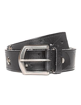 Ed Hardy Embellished Leather Belt