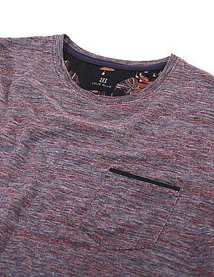 True Blue Patterned Knit Slim Fit T-Shirt