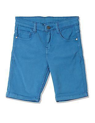 Cherokee Boys Slim Fit Solid Shorts