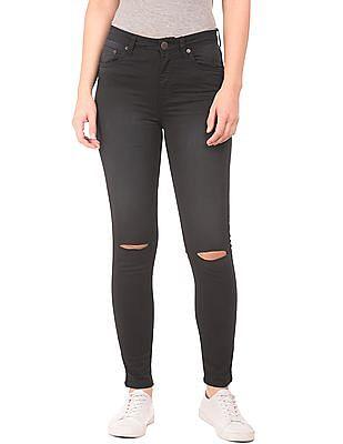 Aeropostale Slim Fit Ripped Jeans