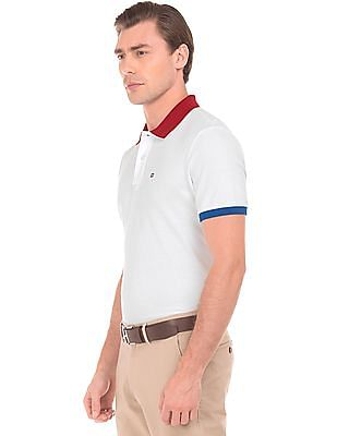 Arrow Sports Colour Blocked Pique Polo Shirt