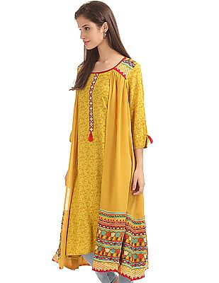 Anahi Layered Printed Kurta