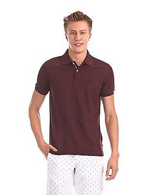 Nautica Short Sleeve Pique Solid Deck Polo Shirt