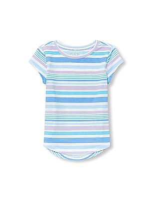 The Children's Place Girls Matchables Short Sleeve Printed Layering Top