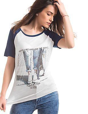 Elle Printed Regular Fit T-Shirt