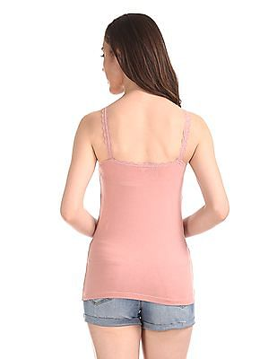 Unlimited Lace Trim Cotton Stretch Camisole