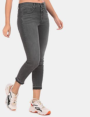 GAP Women Grey True Skinny Fit High Waist Jeans