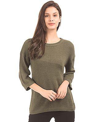 ce96bc312f75 U.S. Polo Assn. Women Lace Panel Boxy Sweater. SHOP NNNOW