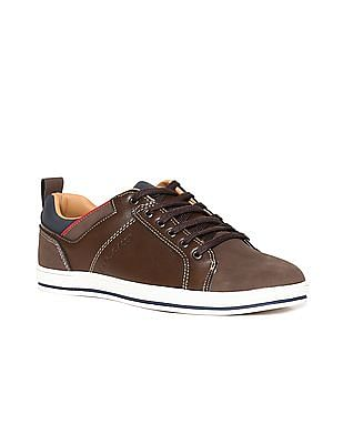 U.S. Polo Assn. Round Toe Panelled Sneakers