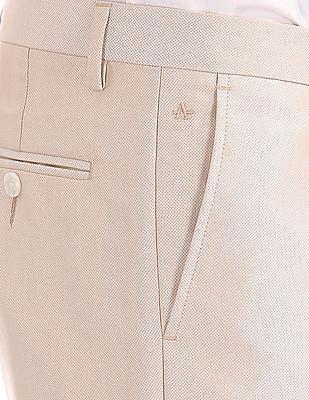Arrow Slim Fit Patterned Weave Suit