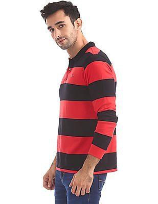 Flying Machine Standard Fit Striped Polo Shirt