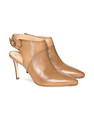 Johnston & Murphy Point Toe Leather Booties