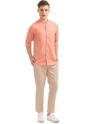 Ruggers Mandarin Collar Regular Fit Shirt