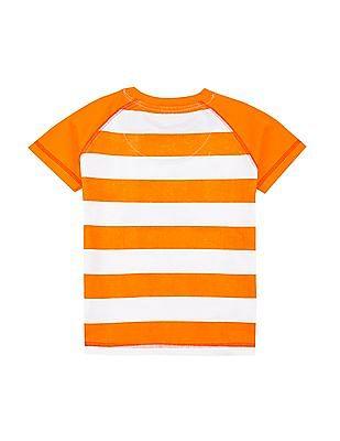 Colt Boys Striped Regular Fit T-Shirt