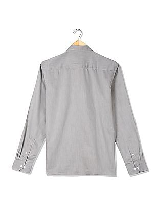 Excalibur Patterned Weave Long Sleeve Shirt