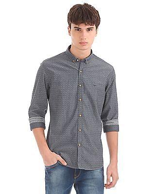 Flying Machine Slim Fit Patterned Shirt