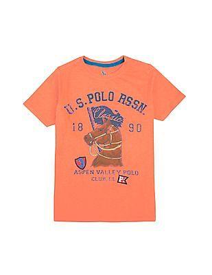 U.S. Polo Assn. Kids Boys Round Neck Printed T-Shirt