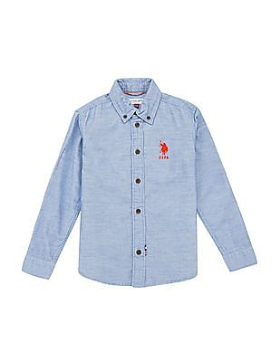 U.S. Polo Assn. Kids Boys Regular Fit Corduroy Shirt