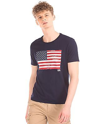 GAP Flag Print Cotton T-Shirt