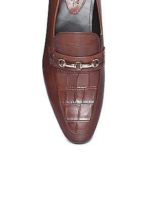 Arrow Horsebit Leather Loafers