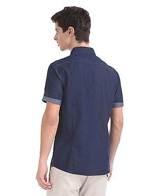 Cherokee Short Sleeve Chambray Shirt